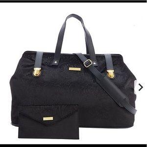 Handbags - JOY & IMAN Chic Brocade Carpet Bag w/ Clutch
